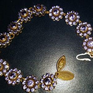 New Purple Swarovski Crystal Victorian Bracelet